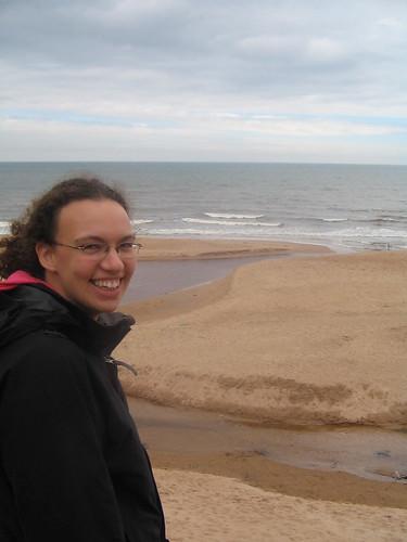 gick ner till Stranden vid Balmedie