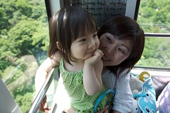 Ropeway ride up to Seoul Tower.
