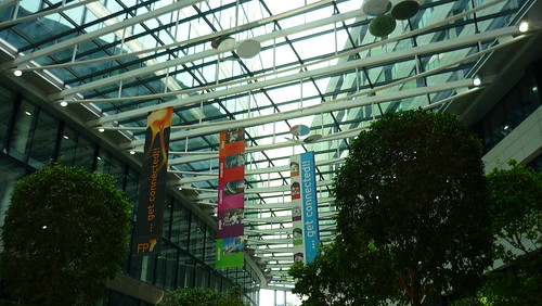 My new office building seen from inside