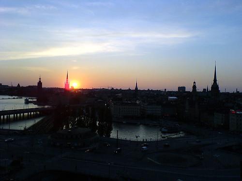 Summer sunset in Stockholm 2.