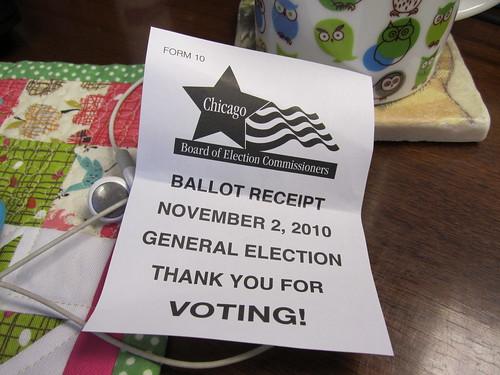 i voted...