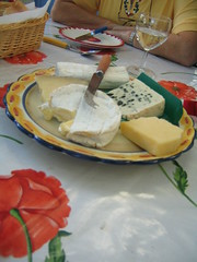 The cheese course of lunch with Pat and Tom