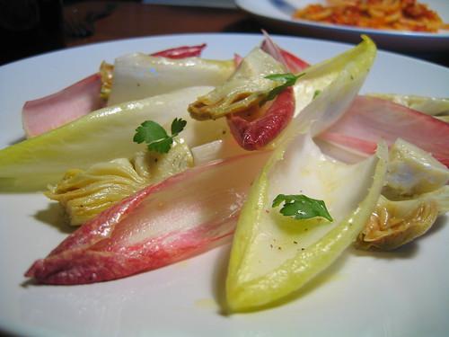 endive, treviso & artichoke salad w/anchovy dressing