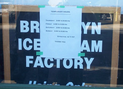 Brooklyn Ice Cream Factory Hours