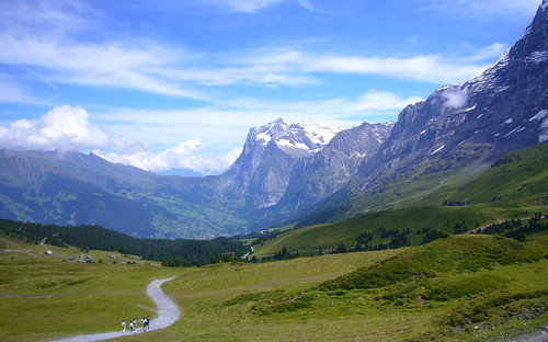 Hiking Swiss Alps near Grindelward by Joffe Striker