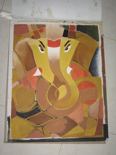 Ganesh Painting-Oil 1
