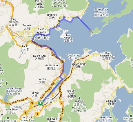 Shatin to Tai Mei Tuk Loop