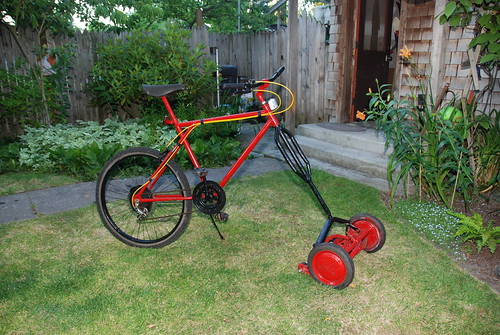 Mower bike