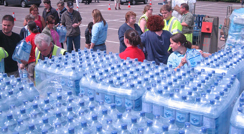 Cheltenham Borough Council distributing bottled water