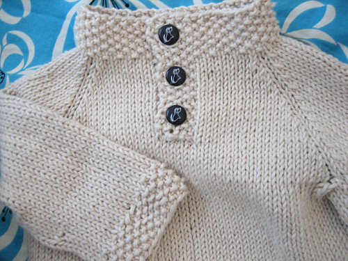 Child's Placket-Neck Pullover