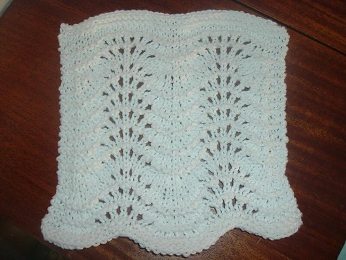 Feather and Fan dishcloth