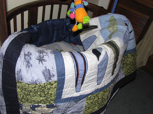 Quilt and crib