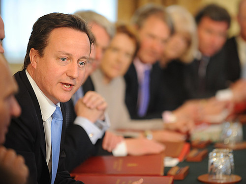 David Cameron at first Cabinet meeting