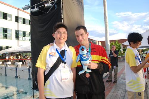 2007聽障游泳錦標賽-Koen & me