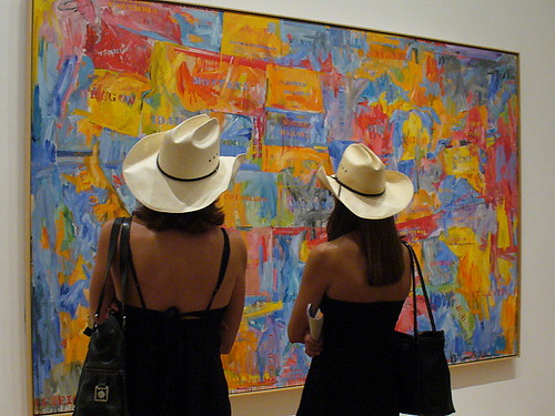 Even cowgirls get Jasper Johns