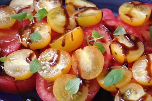 tomatoes, crema di balsamico