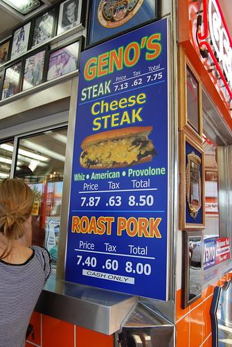 Geno's menu