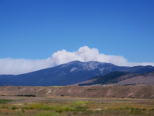 Chippy Creek fire smoke plume