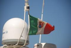 The nautic italian flag