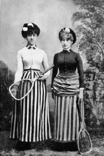 Contestants in the first tennis tournament, 1886.