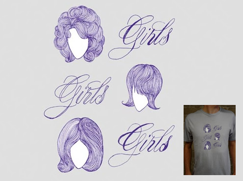 Girls, girls, girls T-shirt by Pretty Hammer