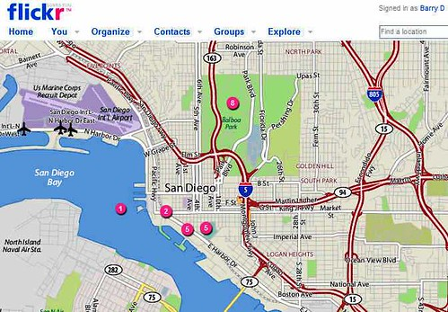Flickr geotag map of San Diego