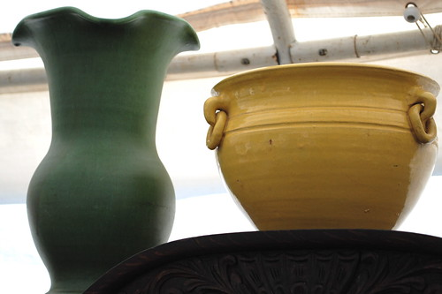 yellow pottery