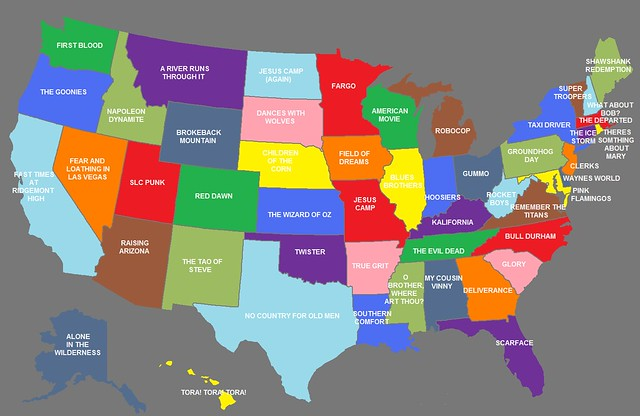 A Map of State Movies   Big Think Other titles mention more abstract features of the local environment  Alone in  the Wilderness  for Alaska  Twister  for Oklahoma  Children of the Corn