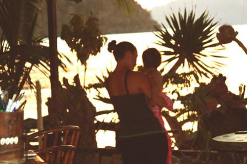 Lia and Mia in Caalan, El Nido, Palawan