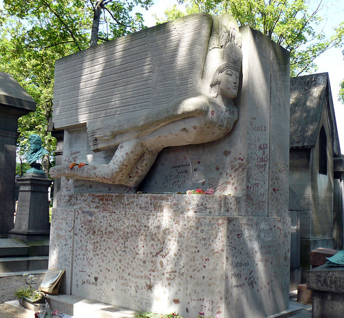 Oscar Wilde memorial at Père Lachaise
