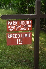 Park Hours Sign