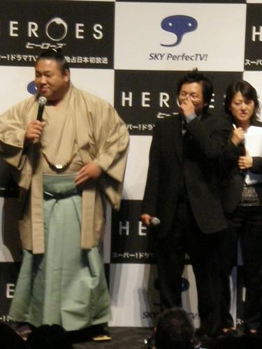 Mashi Oka and Sumo player