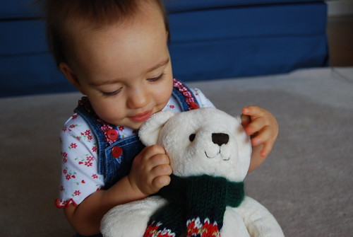 Riley w/ Her Bear