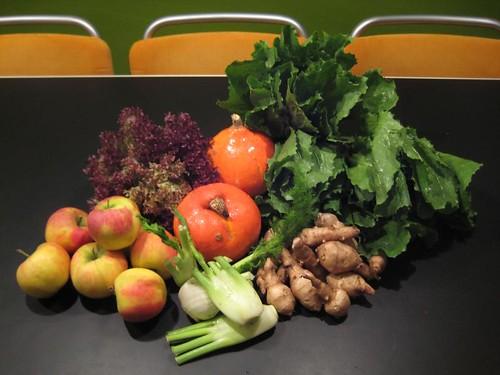 Amelishof organic CSA vegetables week 45, 2010