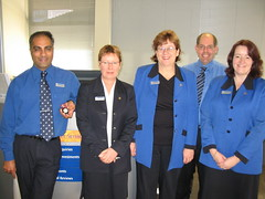 Some of the Finsec team at BNZ Blenheim - Nadeem, Judy, Louise, Andrew, Michelle