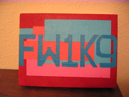 "CAPTCHA painting: ""FW1K9"""