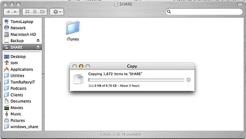 Copying iTunes onto TeraStation