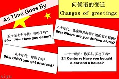 问候�的变迁 Changes of greetings