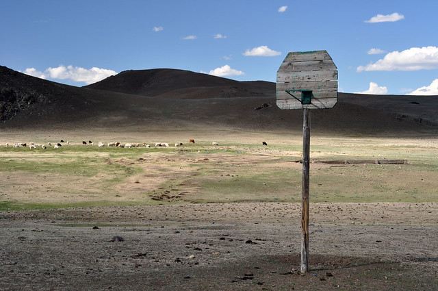 Basketball in the middle of nowhere