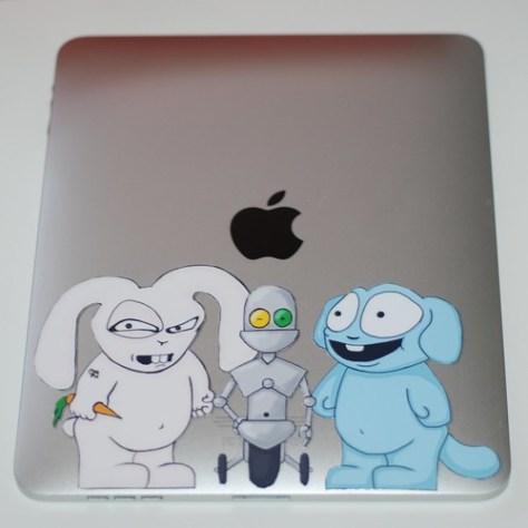 Bosh and Bill iPad sticker project