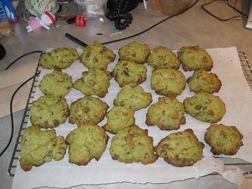 Do not adjust your set. These bits of awesome are perfectly edible green cookies.