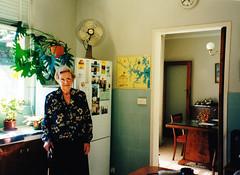 In the kitchen at Essex Street 2001