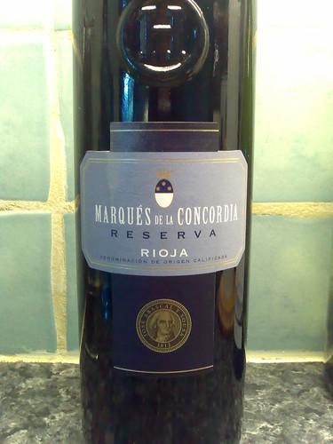 Marques de la Concordia Reserva Rioja 2001
