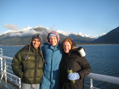 Friends on a ferry