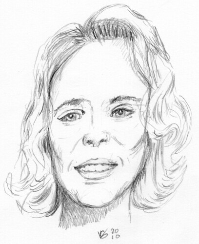 Cute lady, sketched on May 5, 2010