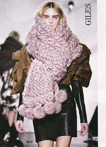 giant pink scarf