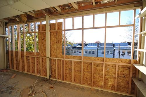Porch window openings ready