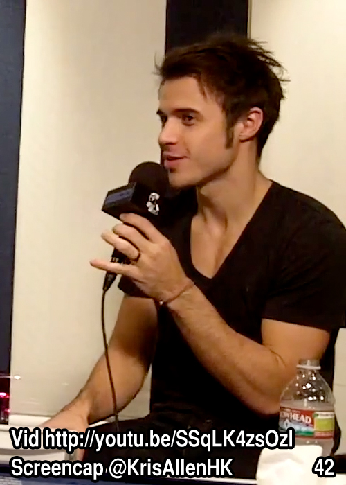Kris Allen Billy Bush Show interview screen cap chest arms biceps sexy tee t-shirt pictures 42