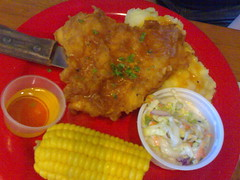 Chicken and Mashed Potatoes with Corn