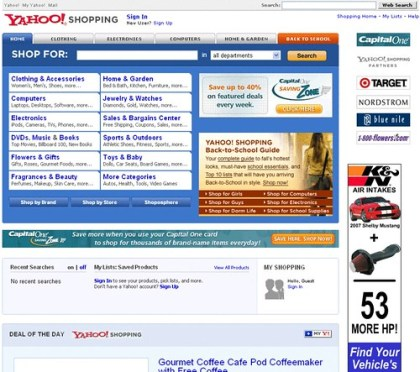 Yahoo! Shopping Sucks